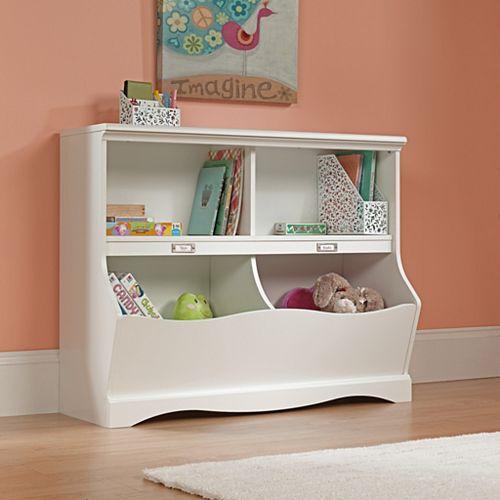 Bibliothèque-pied de lit Pogo blanc cassé