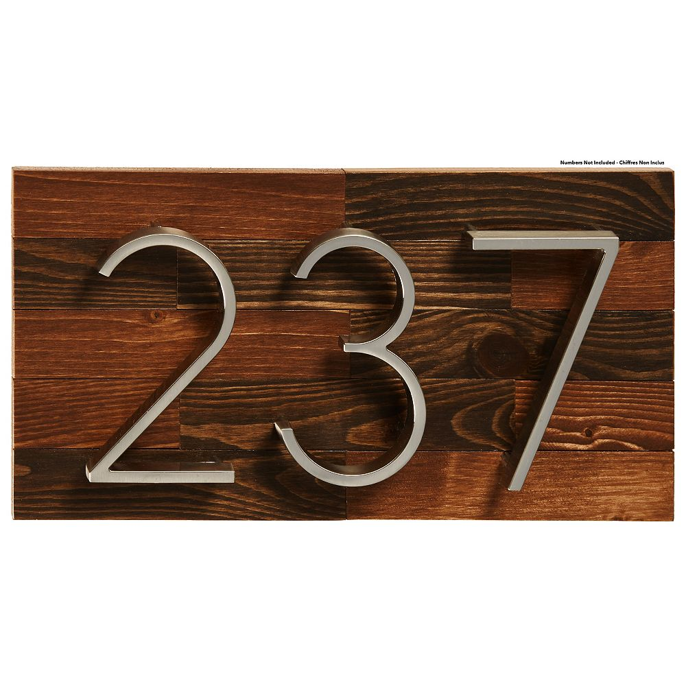 PRO-DF Rustic Wood Address Plaque, Small