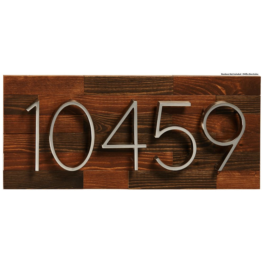 PRO-DF Rustic Wood Address Plaque, Large