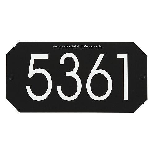 Octogonal Address Plaque, Black
