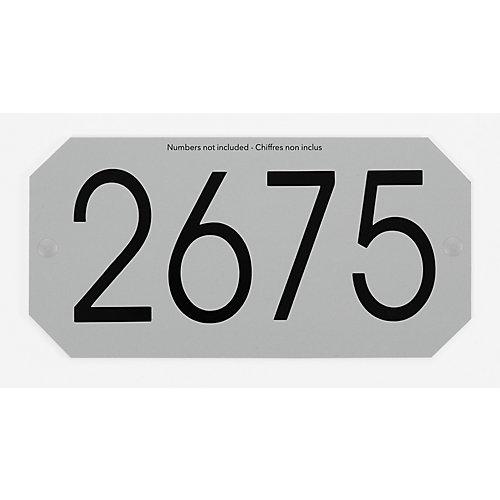 Plaque d'Adresse Octogonale, Gris