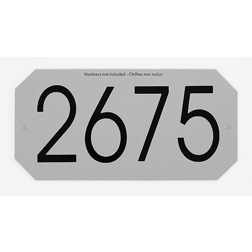 Octogonal Address Plaque, Silver