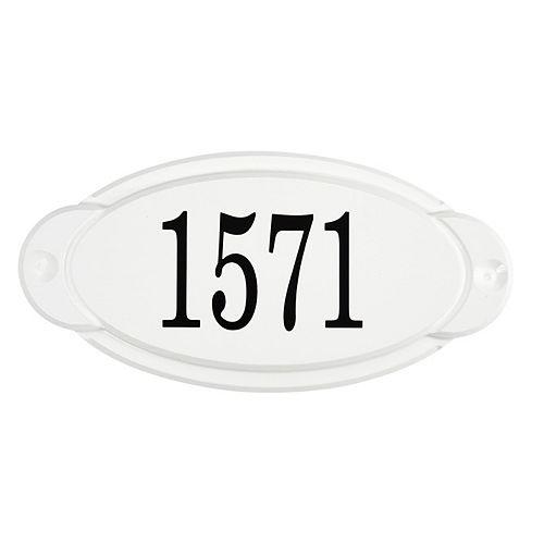 Classic Thermoplastic Address plaque, White