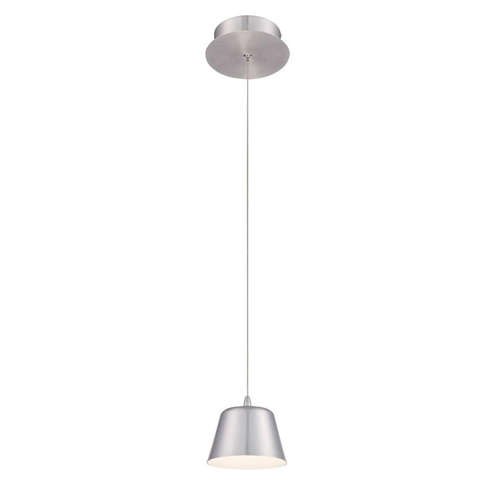 HDG Collection Bowes, luminaire suspendu en aluminium à 1 ampoule DEL