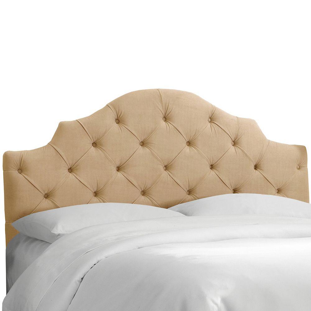 Skyline Furniture Tête de lit rembourrée roi en velours sarrasin