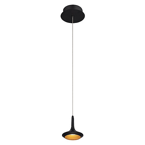 Knoll Collection, 1-Light LED Black Pendant