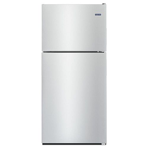 30-inch W 18 cu.ft. Top Freezer Refrigerator in Fingerprint Resistant Stainless Steel