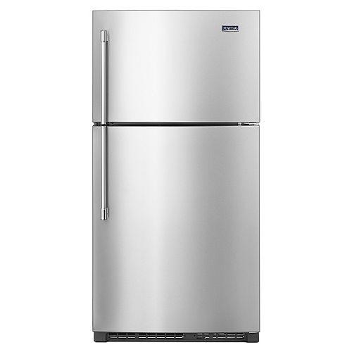 33-inch W 21 cu. ft.  Top Freezer Refrigerator in Fingerprint Resistant Stainless Steel