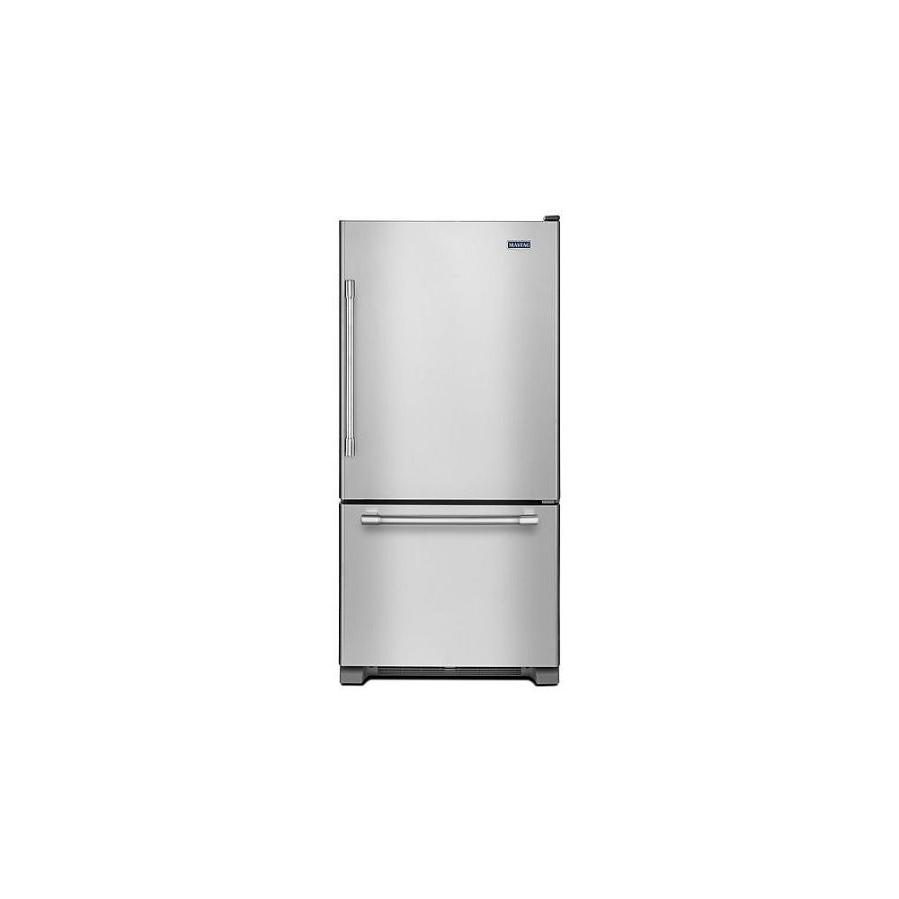 Maytag 30-nch W 19 cu.ft Bottom Freezer Refrigerator in Stainless Steel - ENERGY STAR®