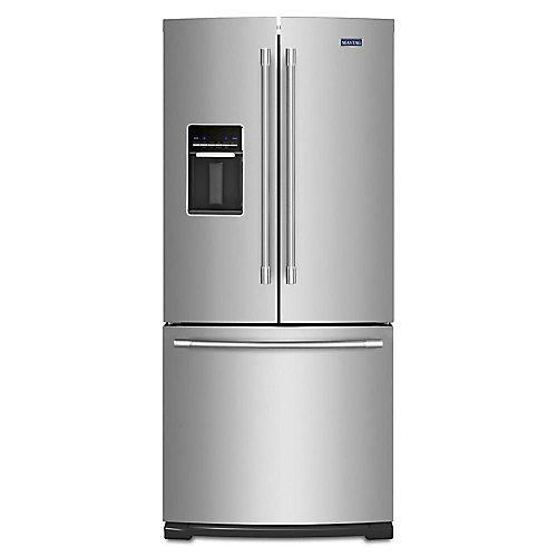 30-inch W 20 cu. ft. French Door Refrigerator in Fingerprint Resistant Stainless Steel