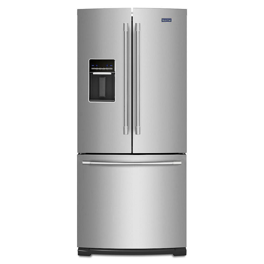 Maytag 30-inch W 20 cu. ft. French Door Refrigerator in Fingerprint Resistant Stainless Steel