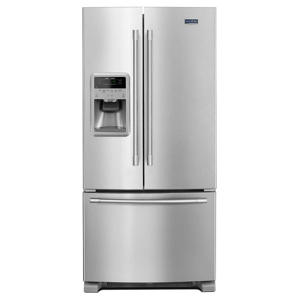 Maytag 33-inch W 22 cu.ft. French Door Refrigerator in Fingerprint Resistant Stainless Steel