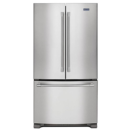 36-inch W 20 cu. Ft. French Door Refrigerator in Fingerprint Resistant Stainless Steel, Counter Depth - ENERGY STAR®