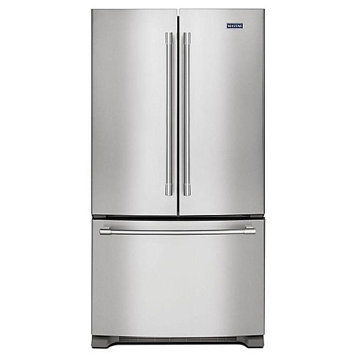 Maytag 36-inch W 20 cu. Ft. French Door Refrigerator in Fingerprint Resistant Stainless Steel, Counter Depth - ENERGY STAR®
