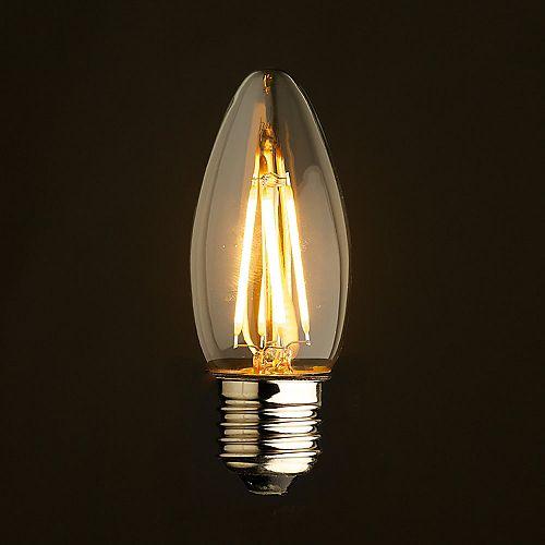 40W Equivalent Clear Filament 2700K Candlelabra Edison E26 Base E26 CRI90 ES Dimmable LED Light Bulb (4-Pack)