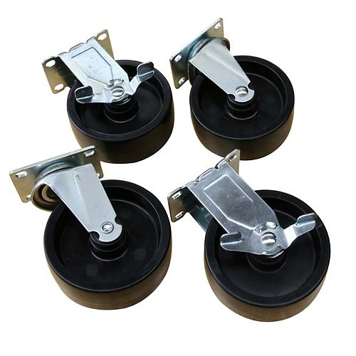 5-inch Black PP Caster Kit