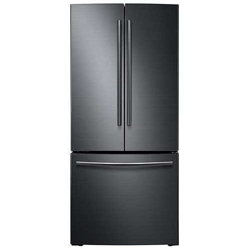 Samsung 30-inch W 21.6 cu. ft. French Door Refrigerator in Fingerprint Resistant Black Stainless