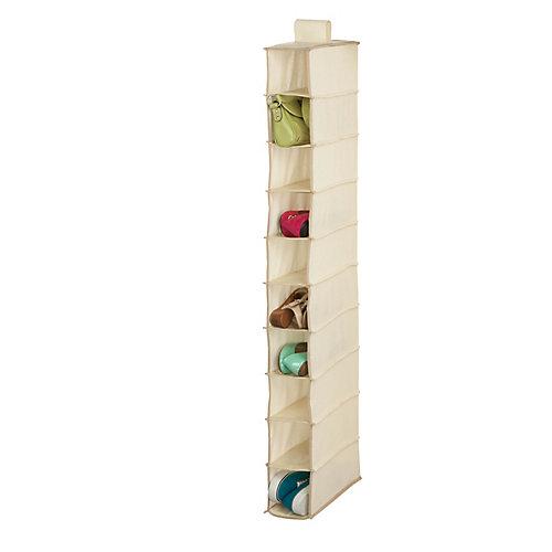 10-Shelf Hanging Shoe Organizer in Natural