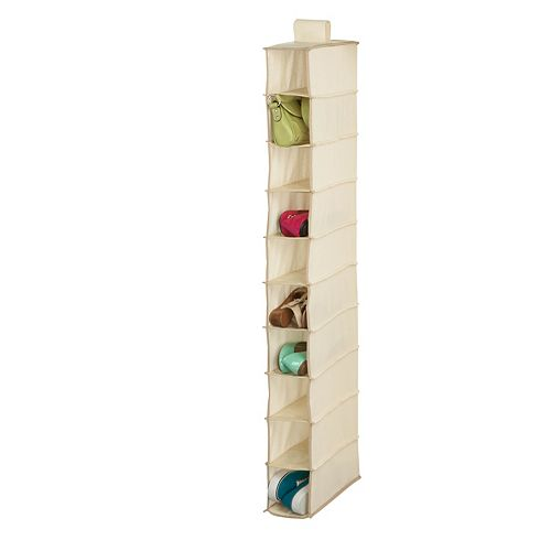 10-Shelf Hanging Shoe Organizer in Natural