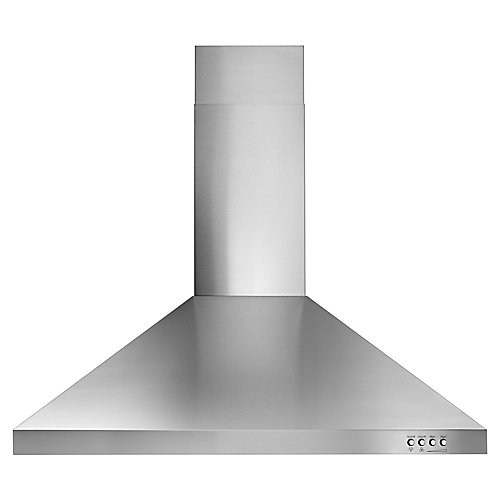 30-inch Contemporary Wall Mount Range Hood in Stainless Steel