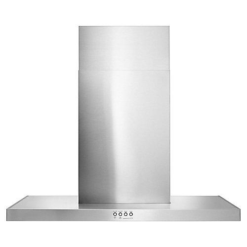 Hotte de cuisinière murale concave en verre de 30 po