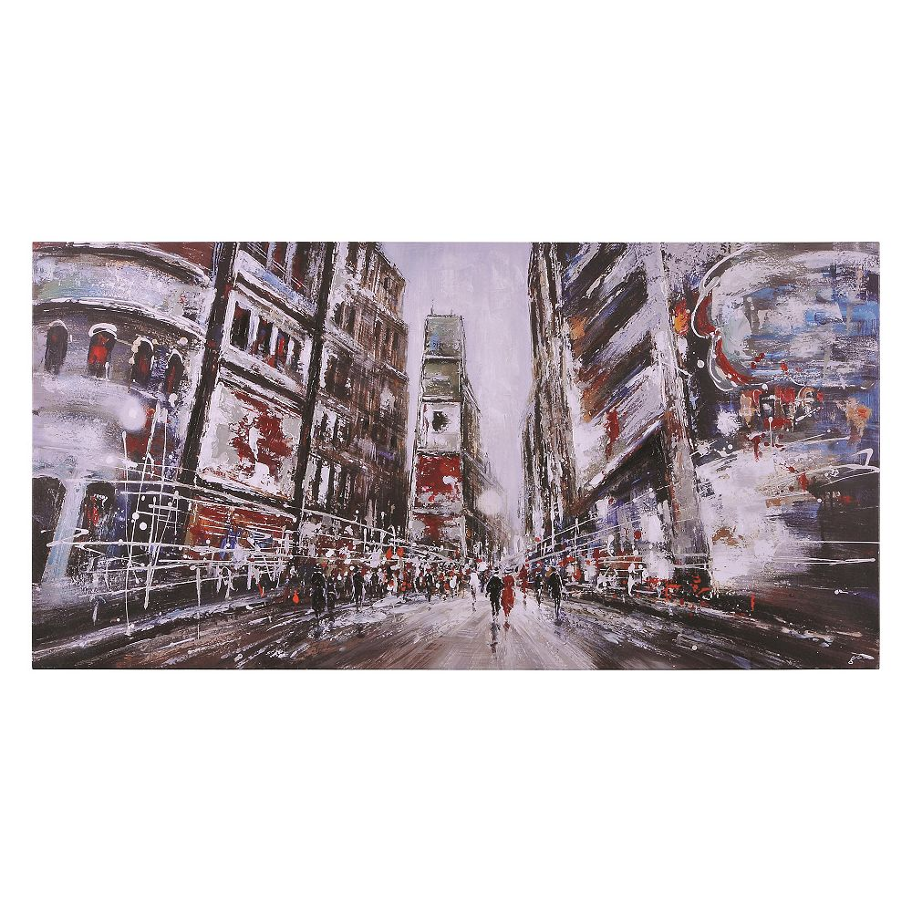 Notre Dame Design Evening In Times Square Canvas Art