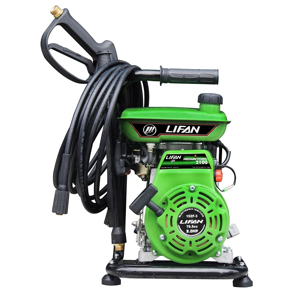 LIFAN Nettoyeur HP à essence 2100 lb/po2 1,85gal/min, pompe à came axiale AR et lanceur à rappel