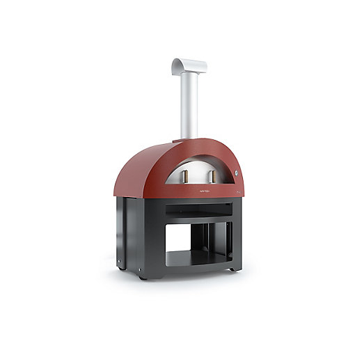 Forno Allegro Pizza Oven with Cart in Red