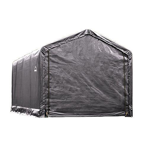 ShelterTube 12 ft. x 20 ft. x 11 ft. Peak Style Garage/Shelter in Gray