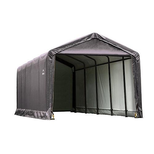 3,6 m x 7,6 m x 3,3 m abri garage ShelterTube style pic, gris