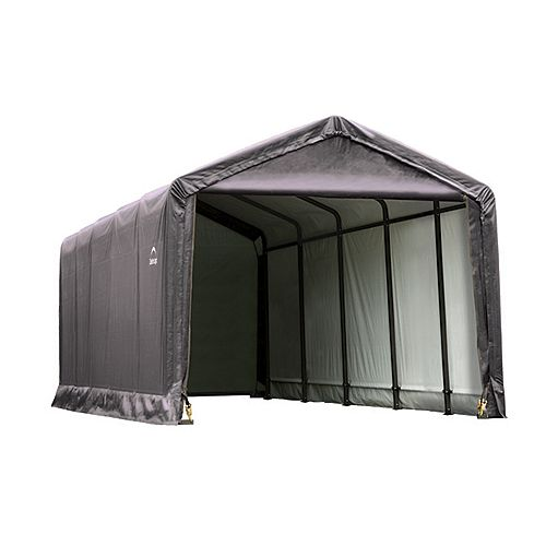 ShelterTube 12 ft. x 25 ft. x 11 ft.  Peak Style Garage/Shelter in Gray