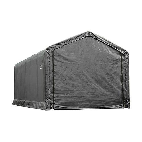 ShelterTube 12 ft. x 30 ft. x 11 ft. Peak Style Garage/Shelter in Gray