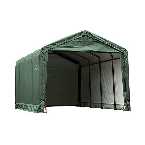 ShelterTube 12 ft. x 20 ft. x 11 ft. Peak Style Garage/Shelter in Green