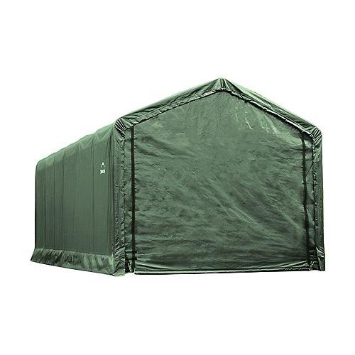 ShelterTube 12 ft. x 25 ft. x 11 ft. Peak Style Garage/Shelter in Green