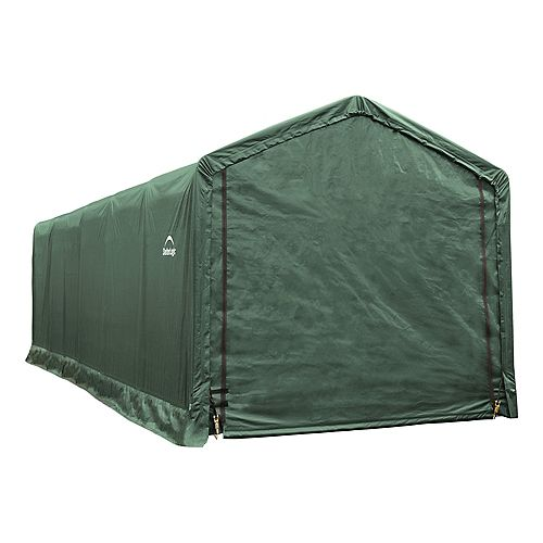 ShelterTube 12 ft. x 30 ft. x 11 ft.  Peak Style Garage/Shelter in Green