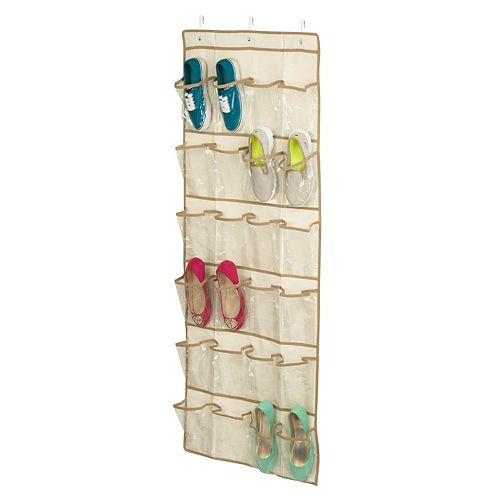 Honey-Can-Do Over-the-Door 24-Pocket Shoe Organizer in Natural