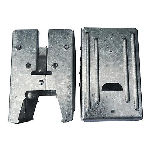 5.5-inch Galvanized Steel Compartment Sawhorse Brackets
