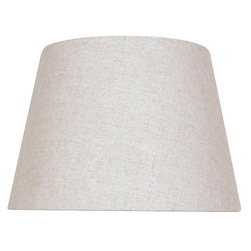 Mix and Match 15 inch x 10.5 inch Beige  Round Table Lamp Shade