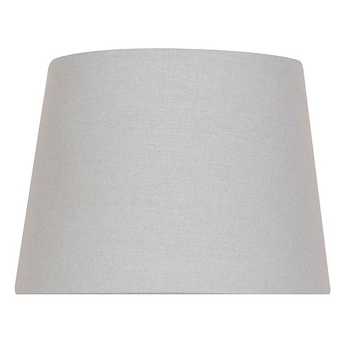 Mix and Match 10 inch x 7.5 inch Grey  Round Accent Lamp Shade