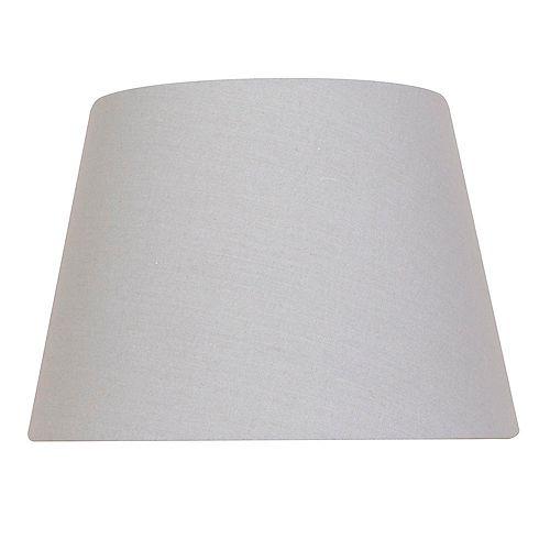 Abat-jour de lampe de table Rond Gris Mix & Match 15 po x 10,5 po