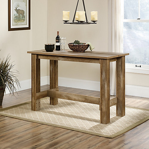 Table de salle à manger hauteur comptoir Boone Mountain en chêne artisanal
