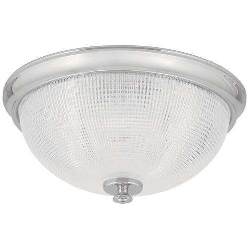 Plafonnier à une ampoule DEL en chrome poli de la collection Lucky- ENERGY STAR®