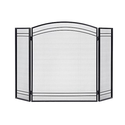 Classic Black 3-Panel Fireplace Screen