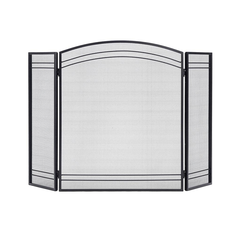 ShelterLogic Classic Black 3-Panel Fireplace Screen