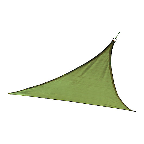 16 ft. Heavy Weight Triangle Sun Shade Sail in Lime Green