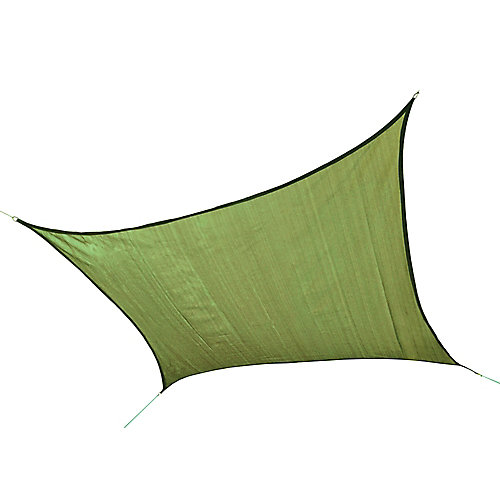 16 ft. Heavy Weight Square Sun Shade Sail in Lime Green