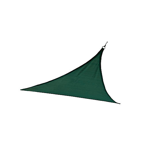 12 ft. Heavy Weight Triangle Sun Shade Sail in Evergreen
