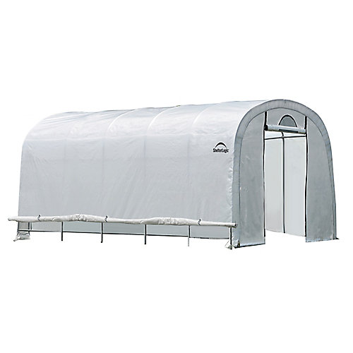 GrowIt 12 ft. x 20 ft. x 8 ft. Heavy Duty Walk-Thru Round-Style Greenhouse