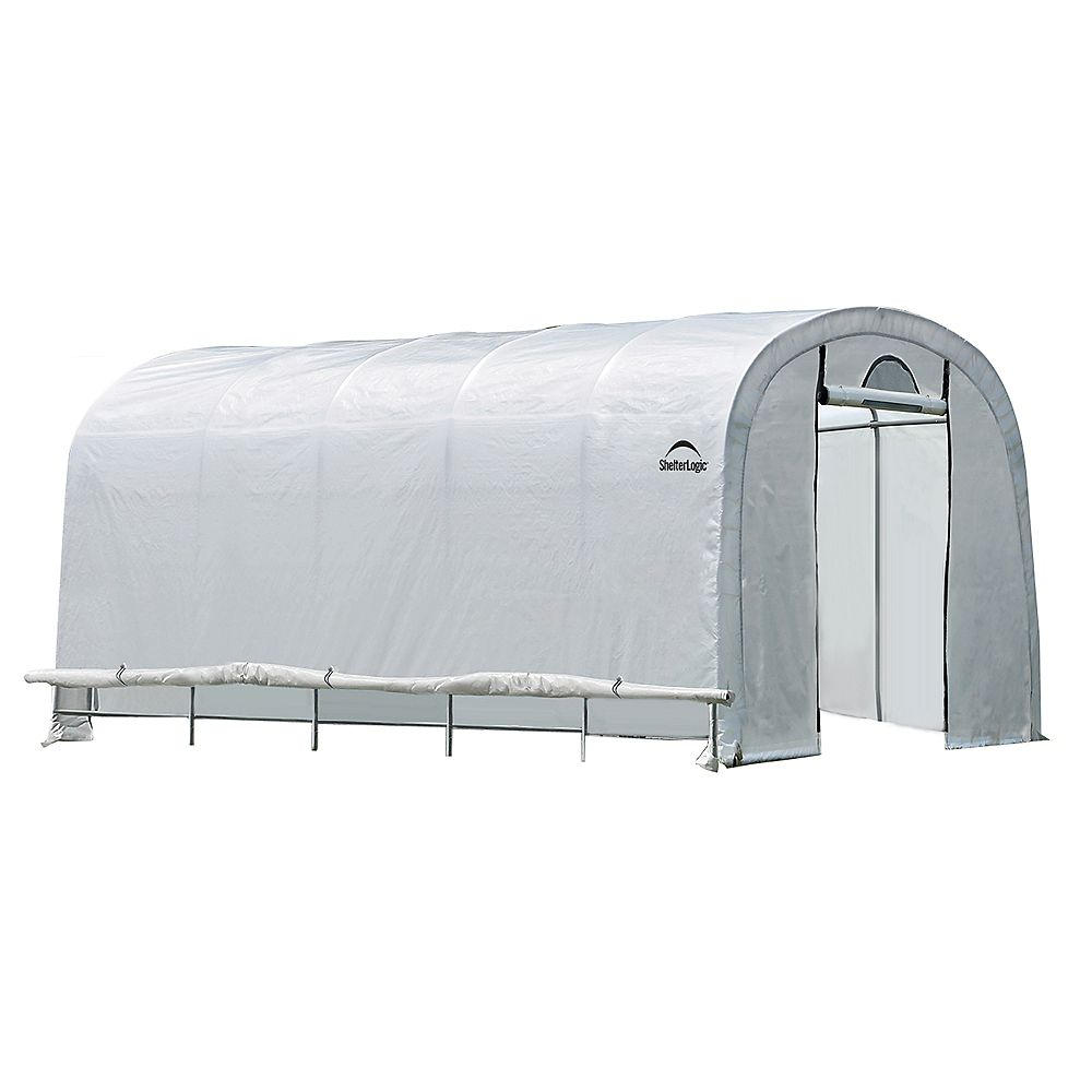 ShelterLogic GrowIt 12 ft. x 20 ft. x 8 ft. Heavy Duty Walk-Thru Round-Style Greenhouse