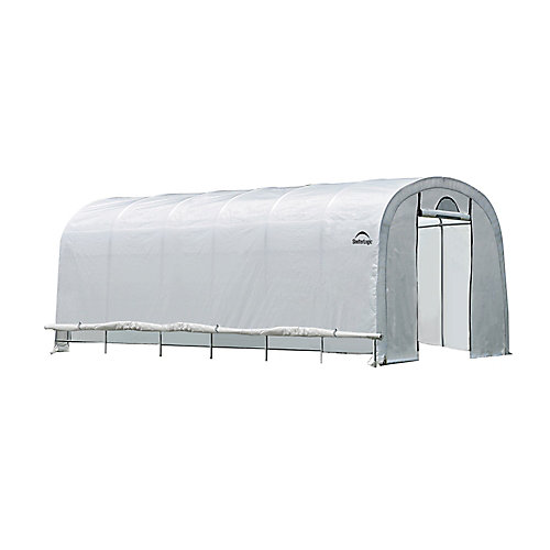 GrowIt 12 ft. x 24 ft. x 8 ft. Heavy Duty Walk-Thru Round-Style Greenhouse